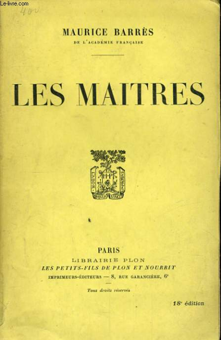 LES MAITRES