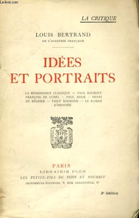 IDEES ET PORTRAITS