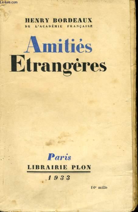 AMITIES ETRANGERES