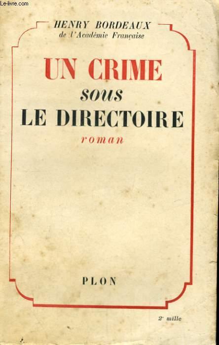UN CRIME SOUS LE DIRECTOIRE