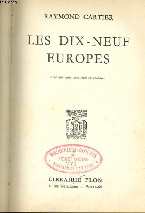 LES 19 EUROPES