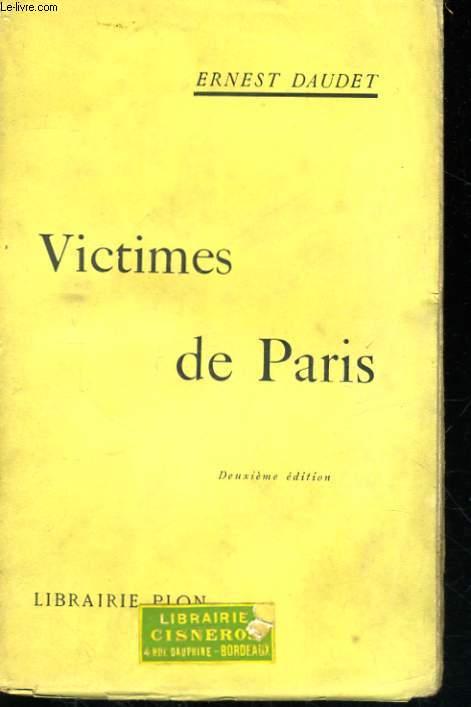 VICTIMES DE PARIS