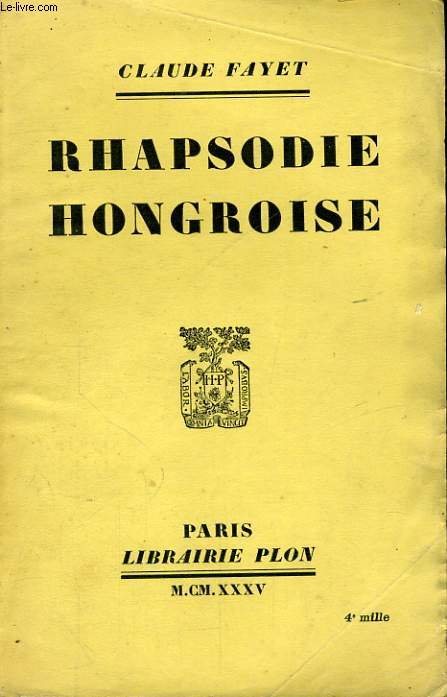 RHAPSODIE HONGROISE
