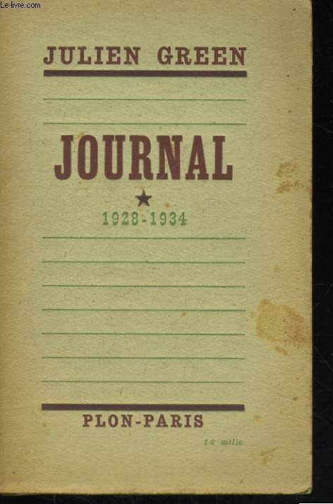 JOURNAL, TOME 1: 1928-1934
