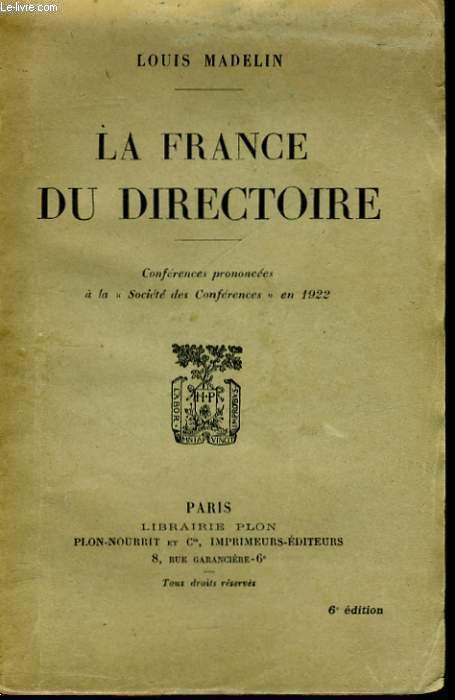 LA FRANCE DU DIRECTOIRE