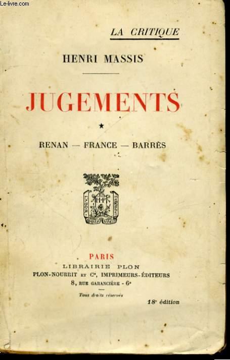 JUGEMENTS, 1: RENAN, FRANCE, BARRES