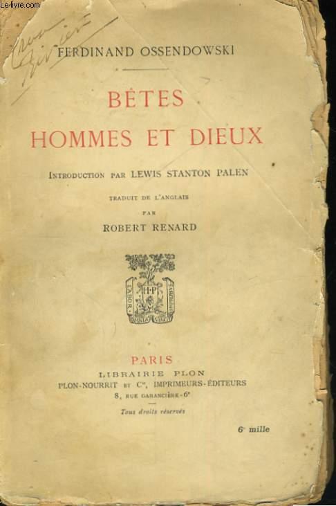 BETES, HOMMES ET DIEUX