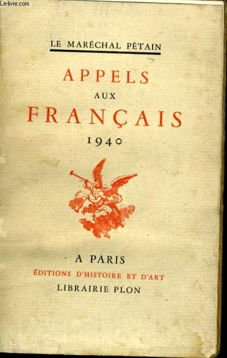 APPELS AUX FRANCAIS 1940