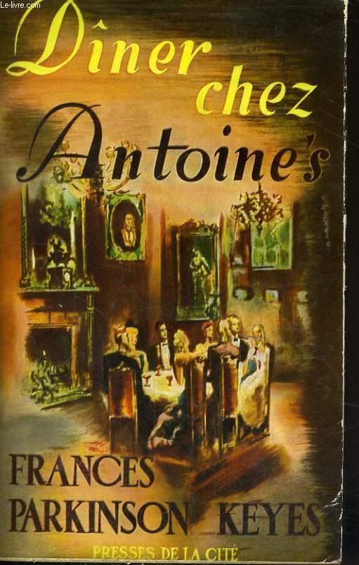 DINER CHEZ ANTOINE'S