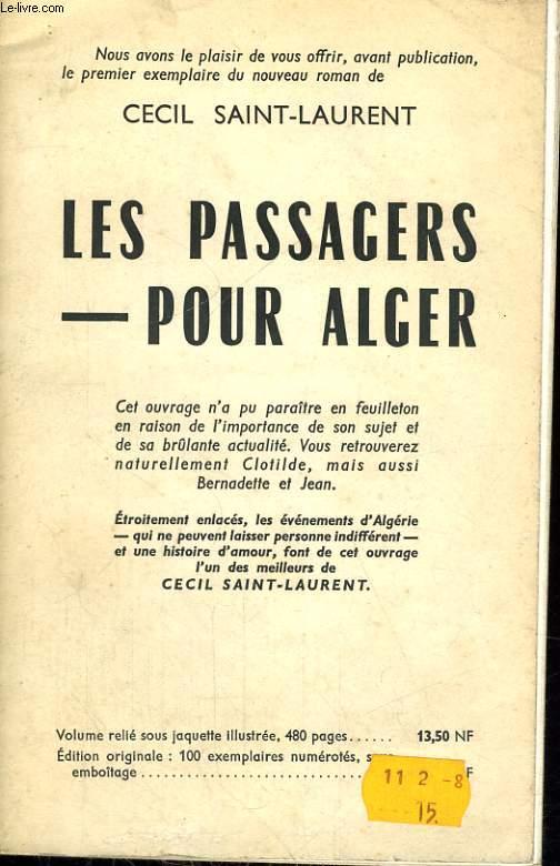 LES PASSAGERS POUR ALGER
