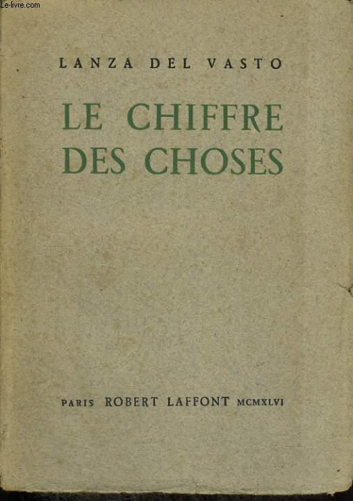 LE CHIFFRE DES CHOSES.