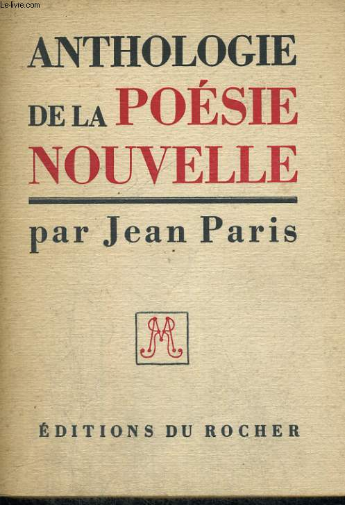 Anthologie de la poésie nouvelle