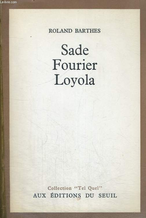 Sade Fourier Loyola