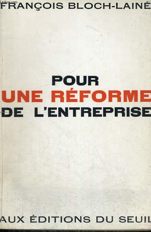 Pour une réforme de l'entreprise