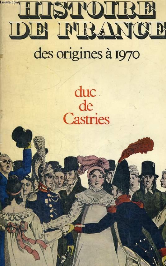 Histoire de France des origines à 1970