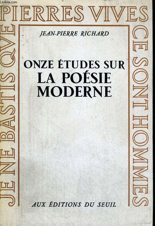 Onze études sur la poésie moderne