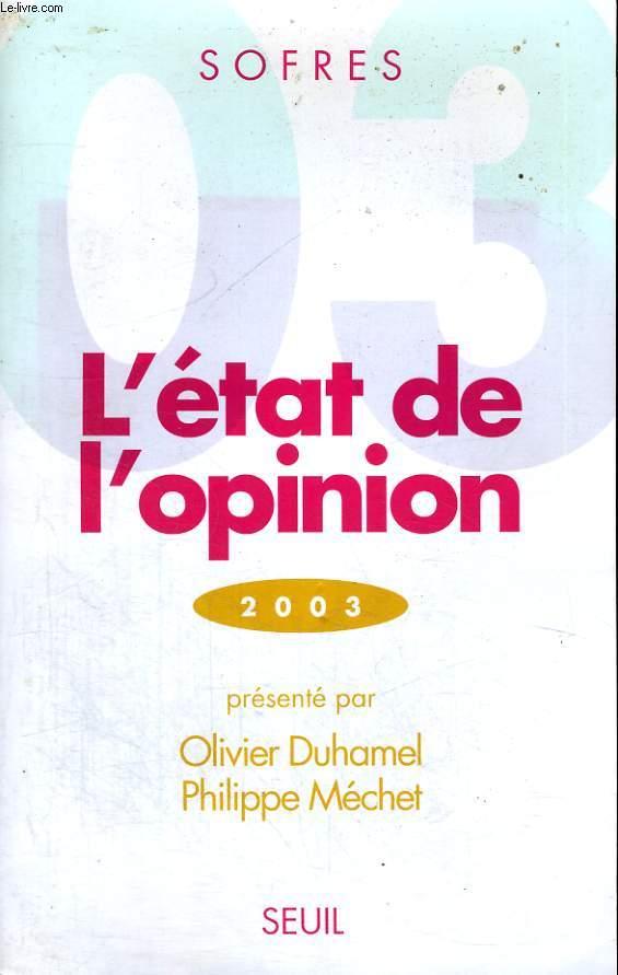 L'état de l'opinion 2003