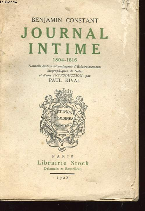 JOURNAL INTIME 1804-1816
