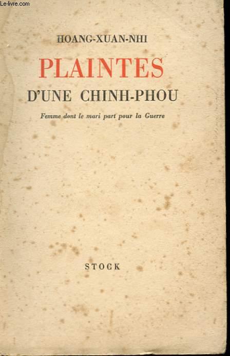 PLAINTES D'UNE CHINH-PHOU