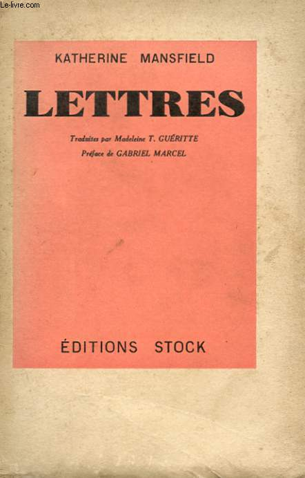 LETTRES DE KATHERINE MANSFIELD