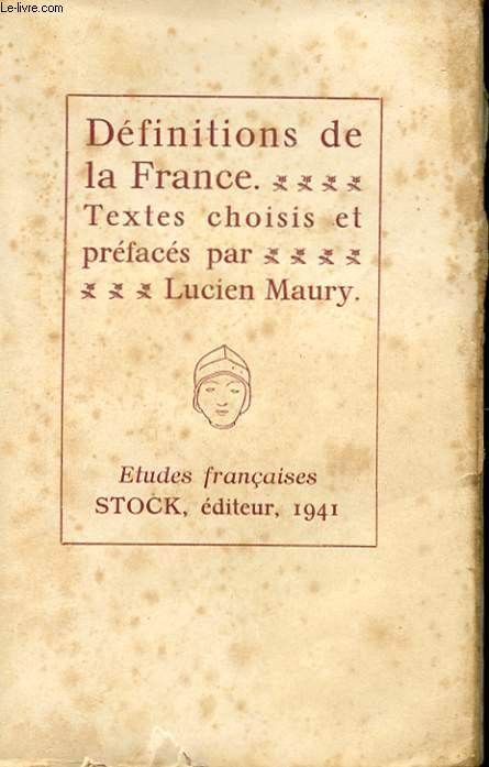 DEFINITIONS DE LA FRANCE