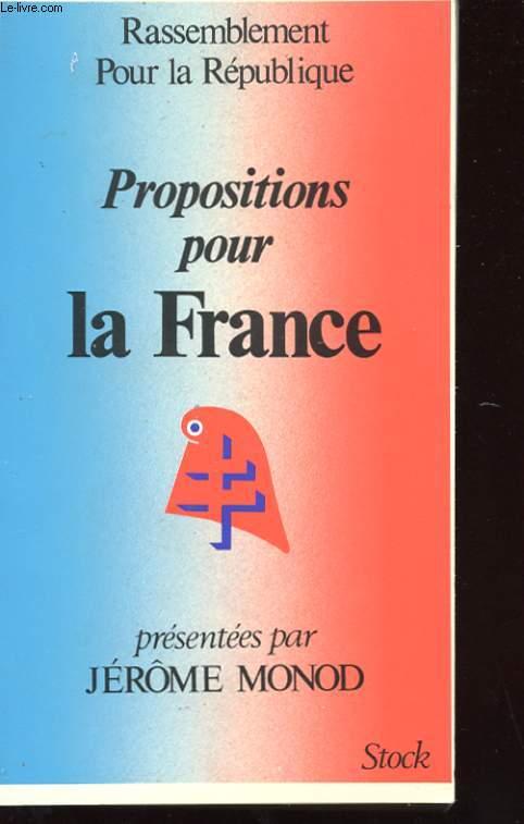 PROPOSITIONS POUR LA FRANCE