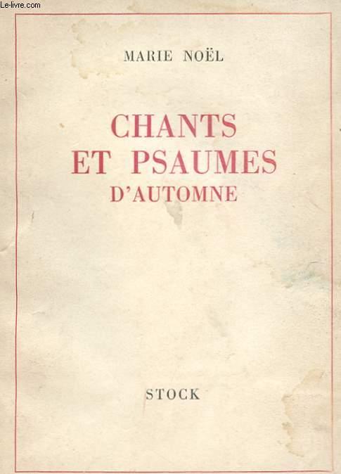 CHANTS ET PSAUMES D'AUTOMNE