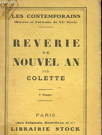 REVERIE DE NOUVEL AN