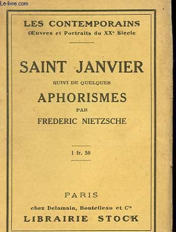 SAINT JANVIER SUIVI DE QUELQUES APHORISMES