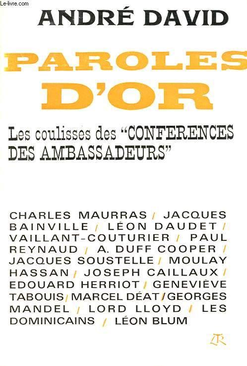 PAROLES D'OR - LES COULISSES DES