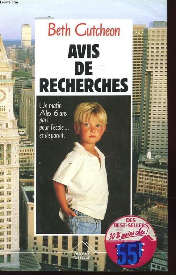 AVIS DE RECHERCHES