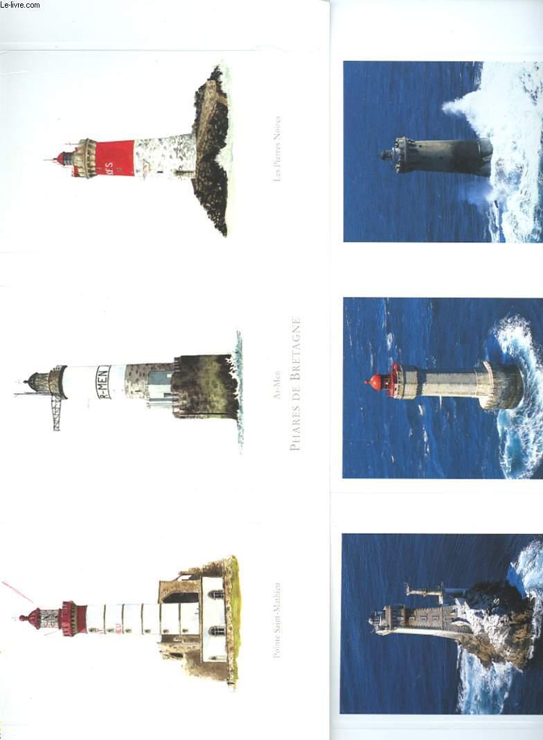 2 PLANCHES DE 6 PHOTOS DE PHARS DE BRETAGNE - PANORAMAS DE BRETAGNE - LA VIEILLE - LA JUMENT - LE FOUR - POINTE SAINT-MATHIEU - AR-MEN - LES PIERRES NOIRES