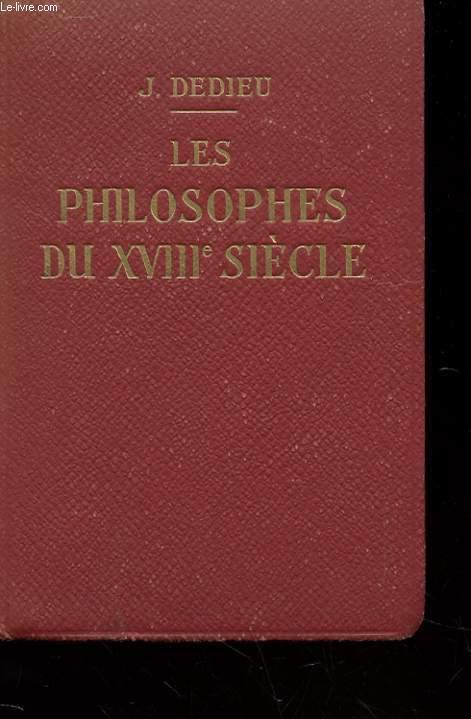 LES PHILOSOPHES DU XVIIIe SIECLE - EXTRAITS