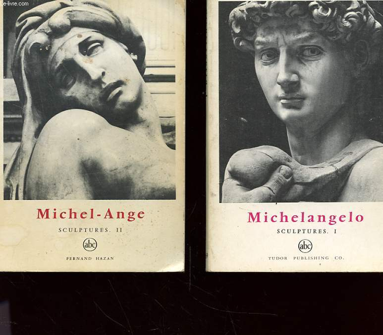 LOT DE DEUX OUVRAGES - TOME 1-  MICHELANGELO SCULPTURES 1 - TOME 2 - MICHEL- ANGE SCULPTURES 2
