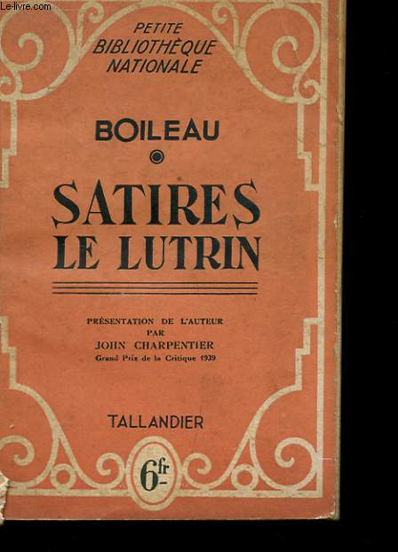 SATIRES DE LUTRIN