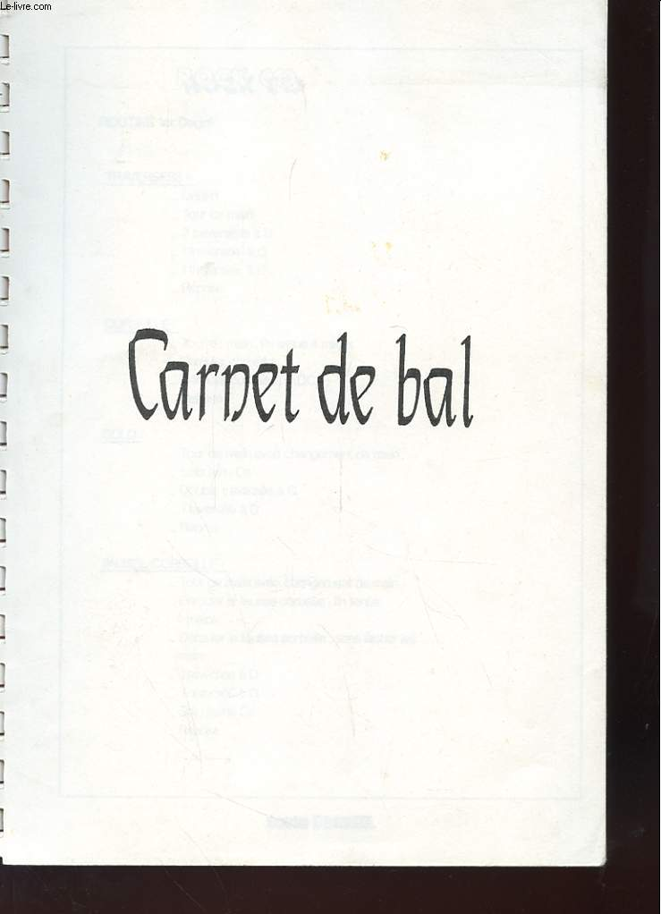 CARNET DE VOL