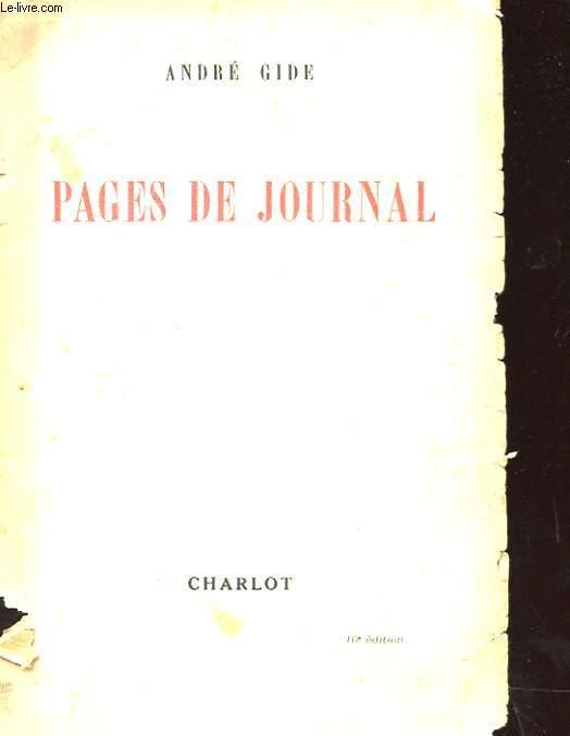 PAGES DE JOURNAL 1939 - 1941