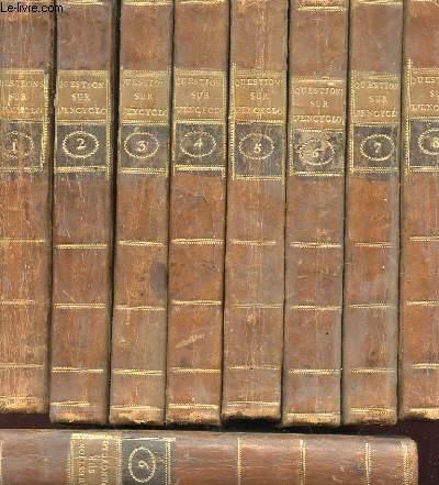 QUESTIONS SUR L'ENCYCLOPEDIE PAR DES AMATEURS EN 9 TOMES