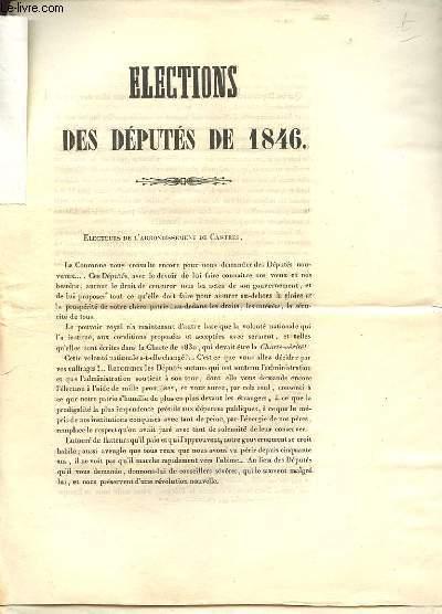 ELECTIONS DES DEPUTES DE 1846 65
