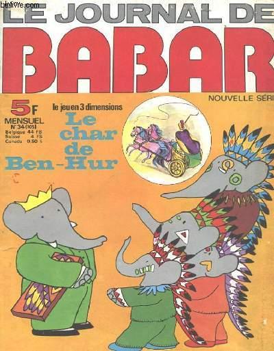 LE JOURNAL DE BABAR N°34 - NOUVELLE SERIE - BABAR ET LES INDIENS