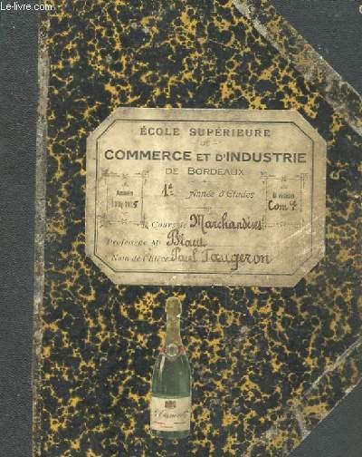 COURS DE MARCHANDISES PAR M. BIAW MANUSCRIT