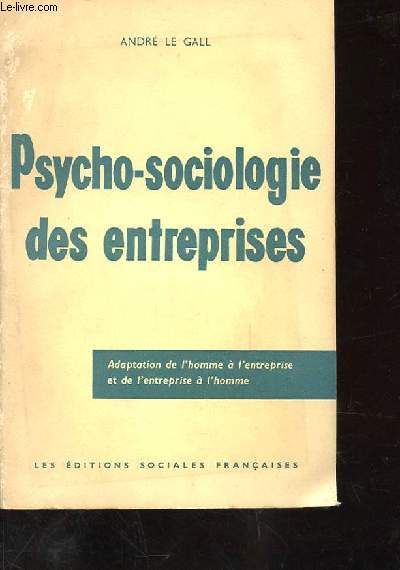 PSYCHO-SOCIOLOGIE DES ENTREPRISES6