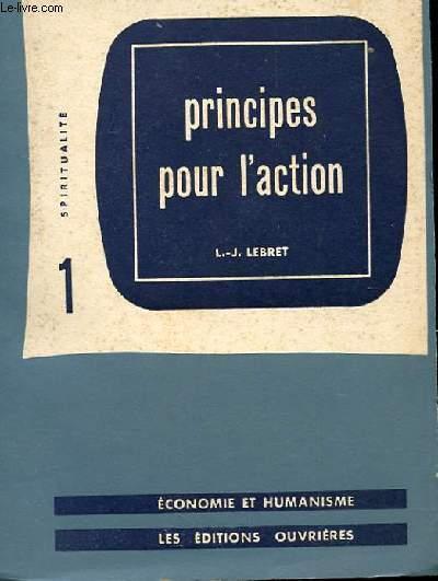PRINCIPES POUR L'ACTION