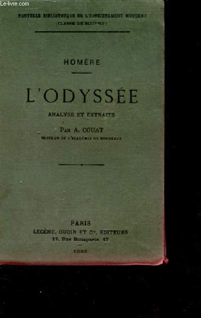 L'ODYSSEE. ANALYSE ET EXTRAITS