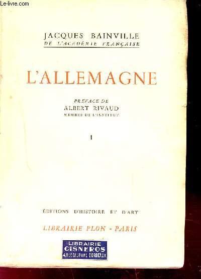 L'ALLEMAGNE. TOME 1