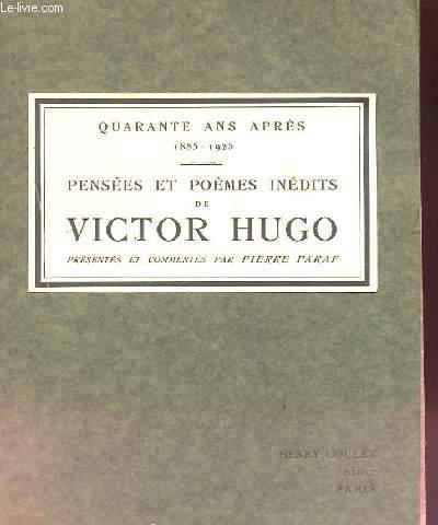 PENSEES ET POEMES INEDITS DE VICTOR HUGO