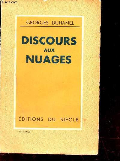 DISCOURS AUX NUAGES