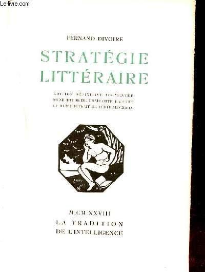 STRATEGIE LITTERAIRE.