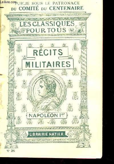 NAPOLEON Ier. RECITS MILITAIRES.