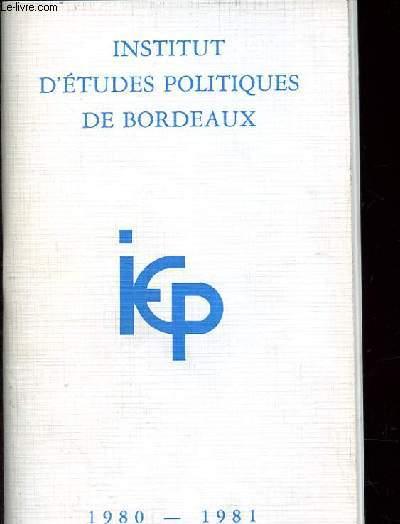 PRESENTATION DE L'INSTITUT